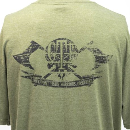 T-Shirt Military Green GTI Skull Broadaxe Back-Logo