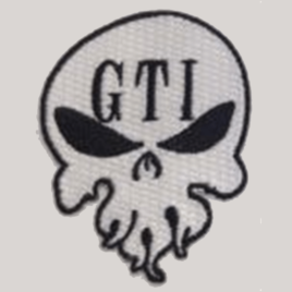 Iron-on Patch White GTI Skull Logo