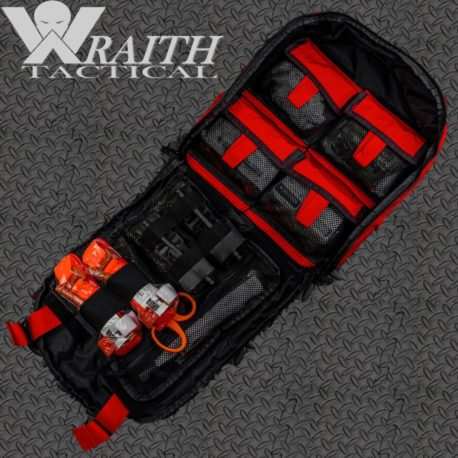Wraith Tactical CARR Pack Medical Bag Large Red Filled