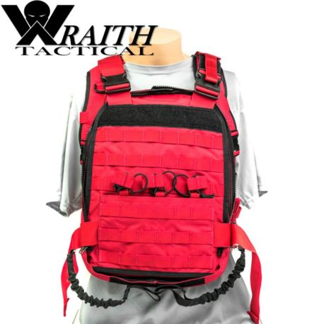 Wraith Tactical CARR Pack Gen 2 Red With Bungee Straps 3
