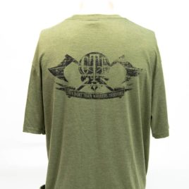 T-Shirt Military Green GTI Skull Broadaxe Back