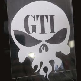GTI Skull Decal