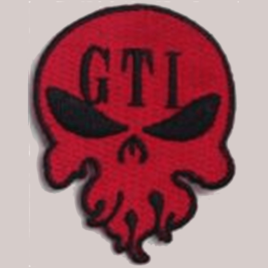 Iron-on Patch Red GTI Skull Logo