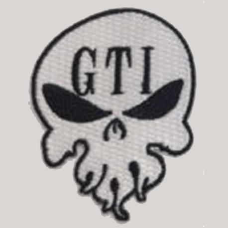 Iron-on Patch White GTI Skull Logo