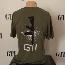 GTI M4 Green Triblend Tee Back