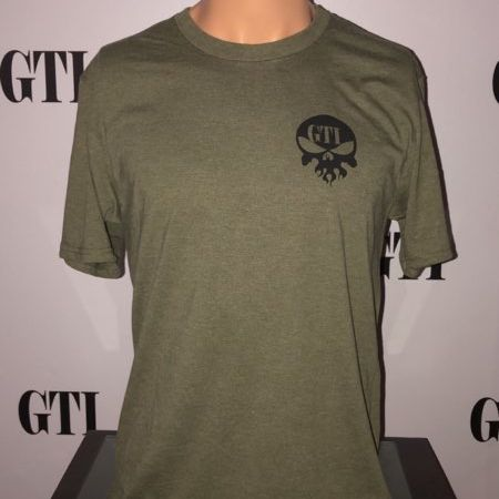 GTI M4 Green Triblend Tee Front