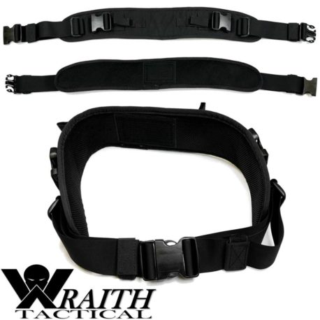 Wraith Tactical CARR Pack Hip Belt Black