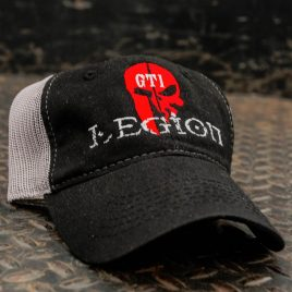 GTI Legion Hat black front with gray mesh back