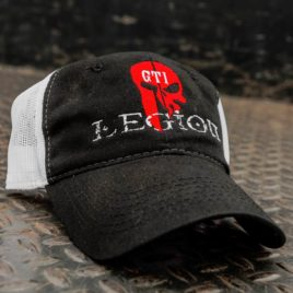 GTI Legion Hat black front with white mesh back