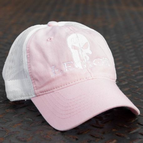 GTI Legion Hat pink front with white mesh back